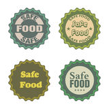 Safe food stickers Stock Photos