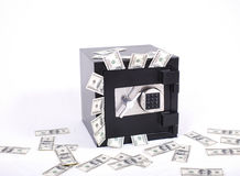 Safe full of money royalty free stock image