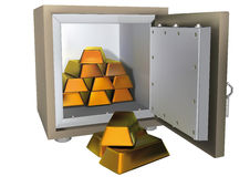 Safe with gold Royalty Free Stock Image