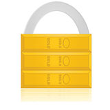 Safe gold. Concept illustration showing a padlock made up of gold, implying a safe investment Stock Images