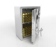 Safe with gold Stock Photography