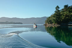 Safe harbour, the calm Marlborough Sounds. Royalty Free Stock Photo