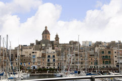 Safe Harbour in Sliema on the island of Malta Europe. The bay at Sliema Creek on the island of Malta Stock Photos