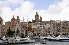 Safe Harbour in Sliema on the island of Malta Europe. The bay at Sliema Creek on the island of Malta Royalty Free Stock Photos