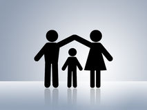 Safe home child protection parental care Stock Photos