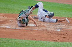 Safe at Home Plate--Alex Rodriguez in the Bronx Stock Photo