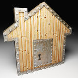Safe house. Image 3d of safe house metaphor background Royalty Free Stock Photo