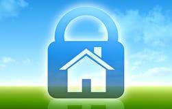Safe house concept. Safe house dream blue green concept stock illustration