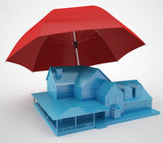 Safe House Concept. 3d render Royalty Free Stock Image