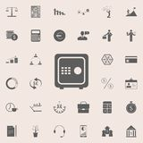 Safe icon. Detailed set of Finance icons. Premium quality graphic design sign. One of the collection icons for websites, web desig. N, mobile app on colored Royalty Free Stock Images