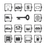 Safe icon set. Stock Photos