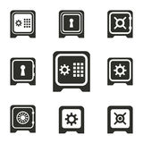 Safe icon set. Safe vector icons set. Illustration for graphic and web design Vector Illustration