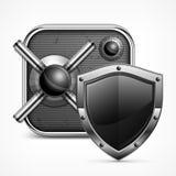 Safe icon & shield stock illustration