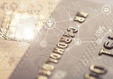 Safe internet shopping bank card Stock Photos