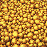 Safe investment. Gold pellets background , Raw gold Royalty Free Stock Photo