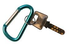 Safe Key. Isolated safe key over white stock photography