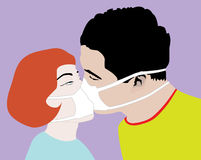 Safe Kiss stock image