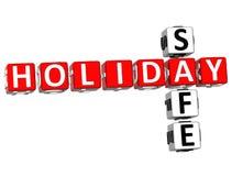 Safe-Kreuzworträtsel des Feiertags-3D lizenzfreie abbildung