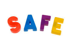 Safe letters Stock Image