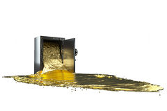 Safe and liquid gold. path included. Stock Image