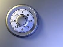 Safe lock. Numeric lock on a safe door. Digital illustration Royalty Free Stock Photos