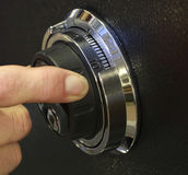 Safe Lock. Combination Lock on a Safe Royalty Free Stock Image