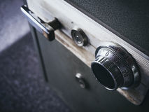 Safe lock code on safety box bank Close up royalty free stock photo