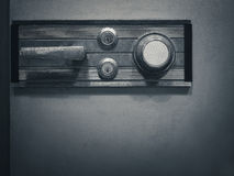 Safe lock code on safety box bank Password security Stock Image