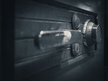 Safe lock code on safety box bank perspective stock photo