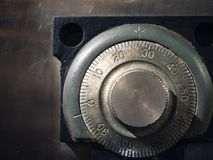 Safe lock code on safety box bank Protection stock photos