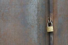 Safe Lock on Metal Door Stock Photo