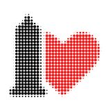 Safe Love Halftone Dotted Icon royalty free illustration
