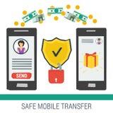 Safe mobile money transfering Stock Image