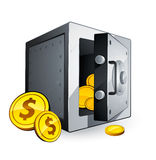 Safe with money. An illustration of a safe with money Royalty Free Stock Photography