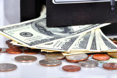 Safe with money Stock Photography