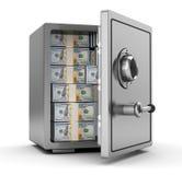 Safe with money stock illustration