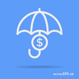 Safe money outline icon white color Royalty Free Stock Photo