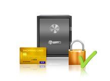 Safe money protection illustration Stock Photo