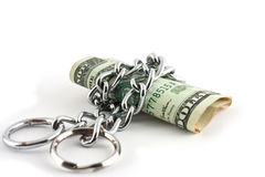 Dollar and chain Stock Images