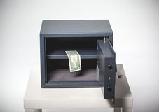 Safe with money. On white Stock Image