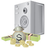 Safe and money. Stock Photography