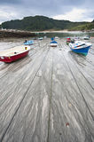 Safe moorings in Galicia, Spain Stock Photos