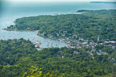 Safe Natural harbor on Maine Coast Stock Photography