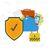 Safe online cloud data storage Royalty Free Stock Images
