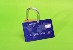 Safe Online Shopping Concept with green background Royalty Free Stock Images