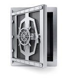 Safe with opening door Royalty Free Stock Images