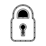 Safe padlock isolated icon Royalty Free Stock Images