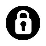 Safe padlock isolated icon Stock Photo