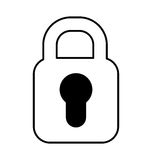 Safe padlock isolated icon Royalty Free Stock Image