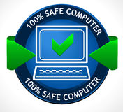 Safe PC Badge. A nice and trushworthy badge for your project Royalty Free Stock Photography